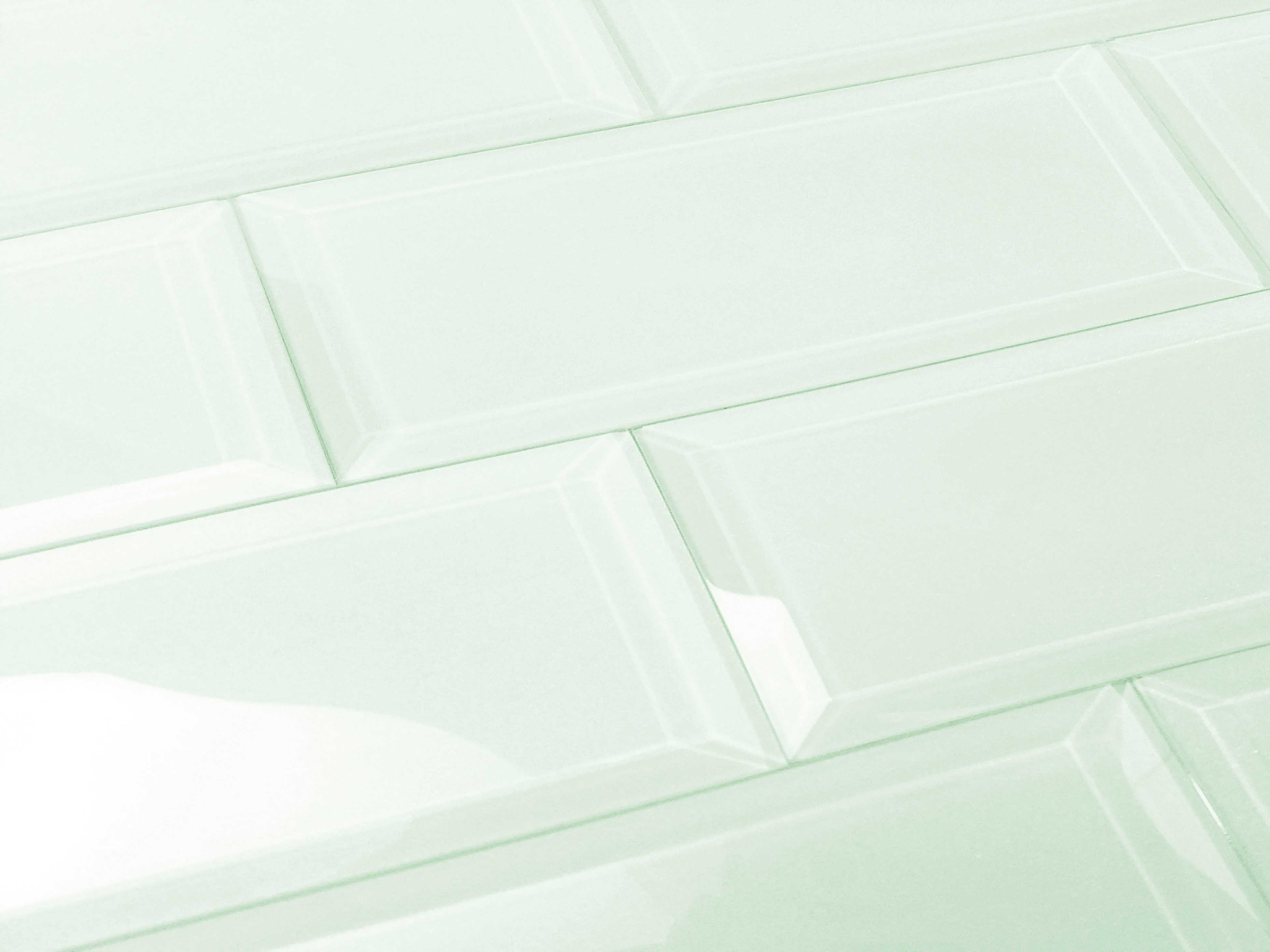Abolos- Frosted Elegance 3' x 12' Glass Subway Tile in Glossy Arctic (14sqft / 56pc Box)