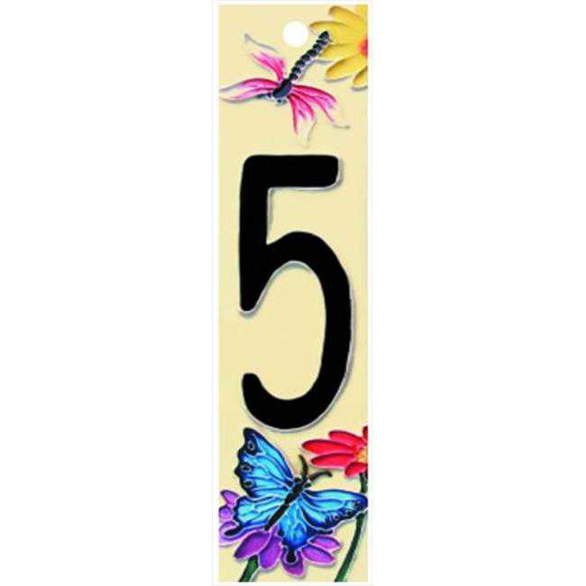 Natural Series 5 - Decorative Ceramic Art Tile - House Number - 2 in.x8.5 in.